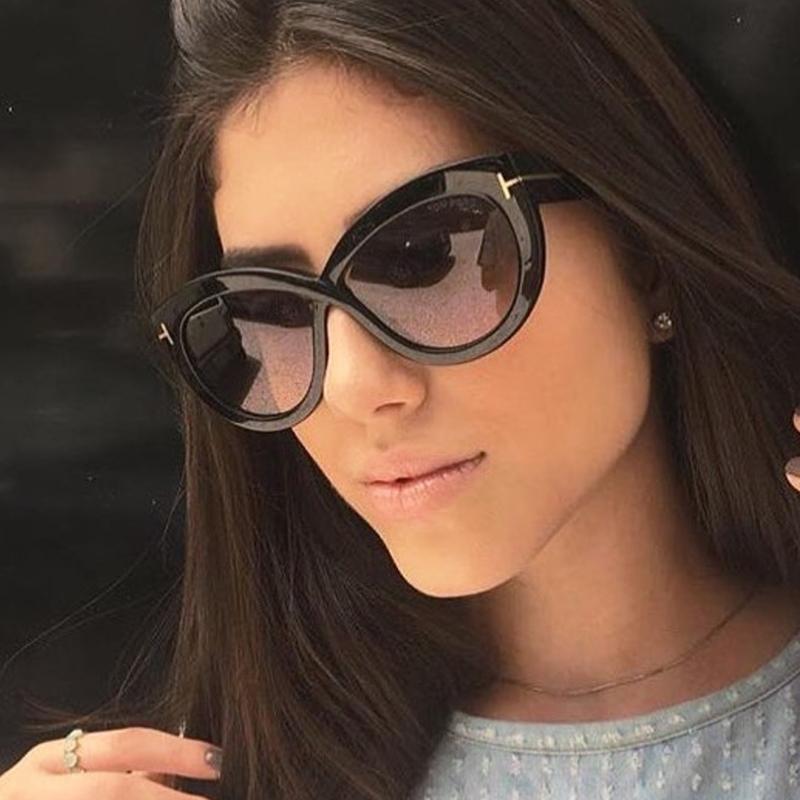 Compre Senhoras Sexy Cat Eye Óculos De Sol Das Mulheres De Grandes  Dimensões De Luxo Da Marca Do Vintage Gradiente Len Óculos De Sol Oculos  Feminino UV400 ... 6ac2bffb61