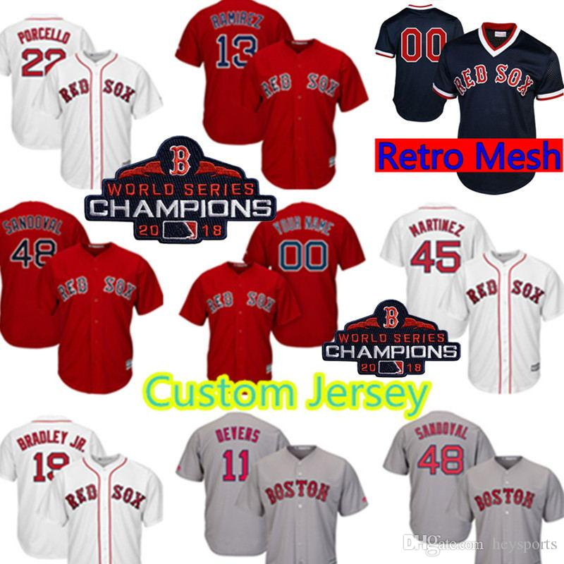 7057c035045 ... canada 2019 boston red sox custom jersey 22 rick porcello 18 mitch  moreland 45 pedro martinez