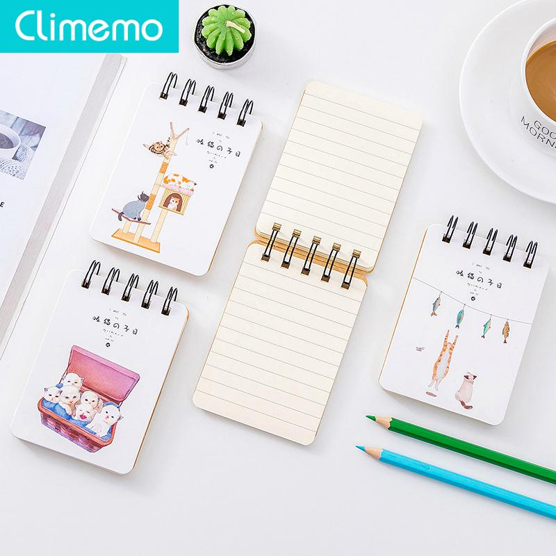 Climemo Kawaii Cat Notebook 80 Sheets Cute Kitty Pocket Journal Diary To Do List 10.6*7.7cm NP245