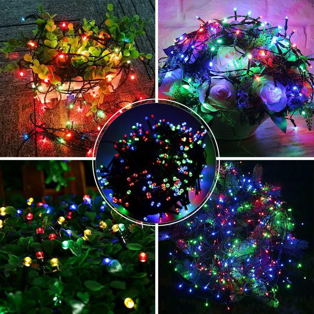 Weihnachtsbeleuchtung Zum Stecken.10 Mt Weihnachtsbeleuchtung Rgb Led String Licht Romantische Rotierende Weihnachtsbaum Dekoration 100 Leds Wasserdichte Urlaub Lichterkette