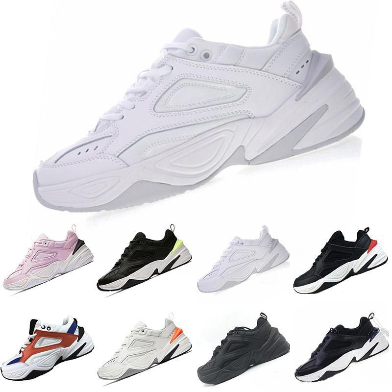 sale retailer 24894 8f58f Acheter Nike Air Monarch The M2K Tekno 2018 Nouveau Monarch IV 4 M2K Tekno  Formateurs Designer Mode Vieux Papa Chaussures Rose Mousse Zapatillas  Qualité ...