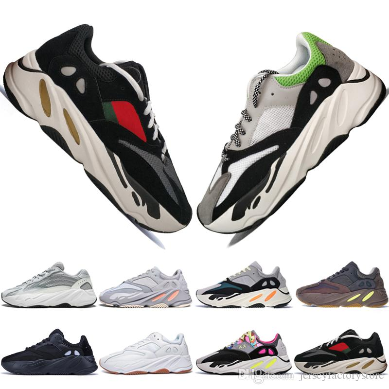 dfdf6f5945545 Cheap Kanye West 700 V2 Static 3M Mauve Inertia 700s Wave Runner Mens  Running Shoes For Men Women Sport Sneakers Designer Trainers Eur 36 46  Athletic Shoes ...
