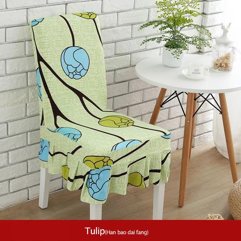 Tulip Spandex Chair Cover Stretch Elastic Dining Seat for Hotel Home Study kitchen Wedding Pleated Skirt Folding Chair Covers