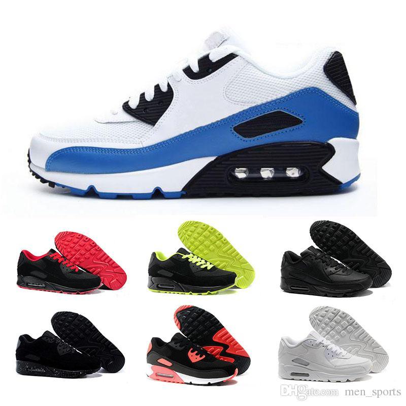 Nike air max 90 Zapatillas de running para hombre Mujer Infrarrojo Triple Blanco Rosa Negro Croc Trainer Cojín Superficie Transpirable Zapatillas de