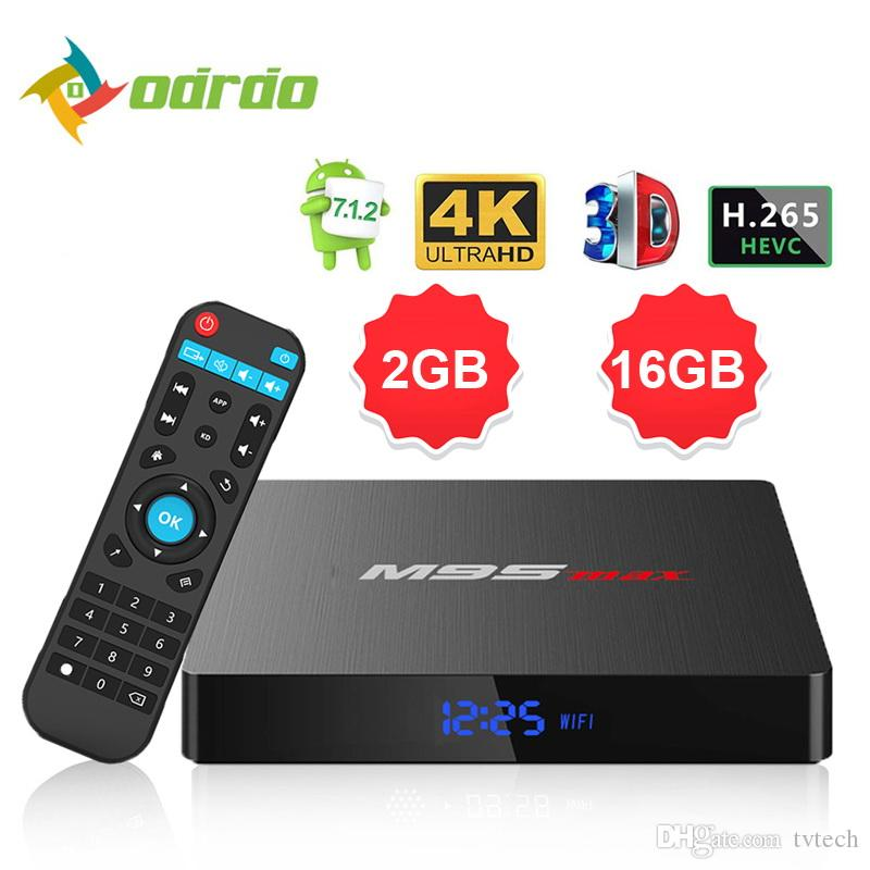 2019 New hot M9S MAX android 7 1 tv box 1GB 2GB 8GB 16GB Amlogic S905W  support StbEmu Youtube Netflix 4k h 265 2 4g wifi