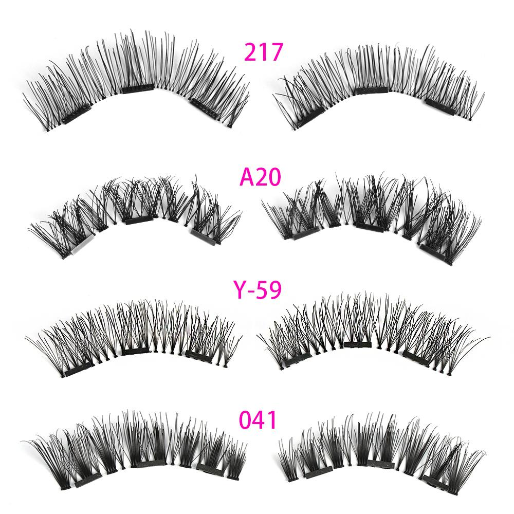 cc004e38c4d Triple Magnetic False Eyelashes Full Coverage Glue Free Lashes Cross Long Magnet  Eye Lashes Make Up Extension Tools Applying False Eyelashes Best Eyelash ...