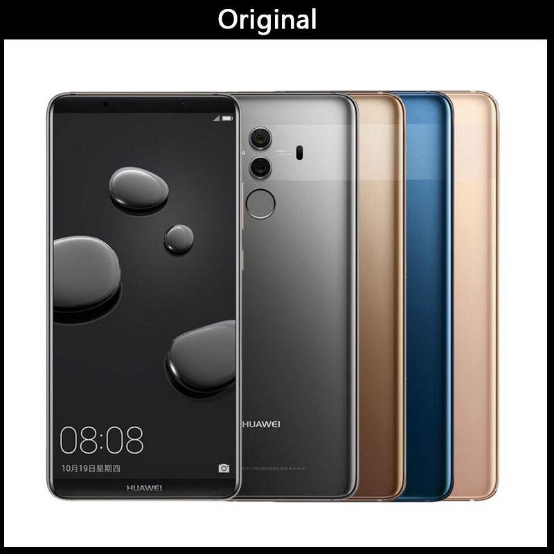 International Firmware HuaWei Mate 10 Pro 4G LTE Cell Phone Kirin 970  Android 8 0 6 0 2160*1080 6GB RAM 128GB ROM 20 0MP NFC