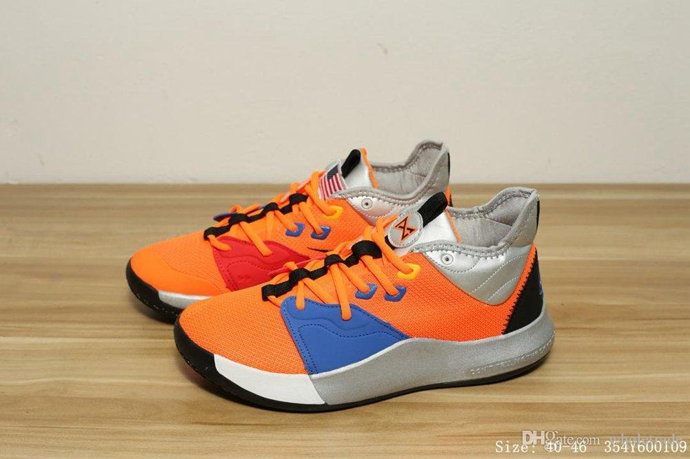 f199cbfdbebd High Quality Athletic Mens PG 3 NASA Orange Black White Multi Color  Basketbal Shoes Man Paul George 3 Running Shoes Come With Box Mens Running  Shoes Walking ...