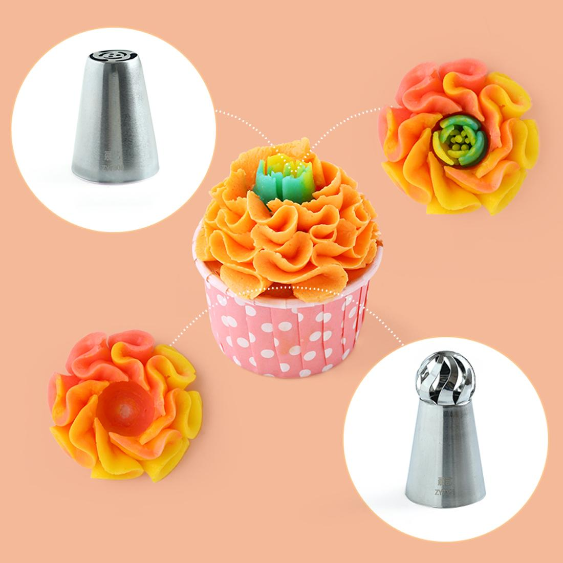 Cake Decorating Stainless steel Large Icing Piping Pastry Nozzles Pastry Tips Kitchen Accessories Baking Cake decor X