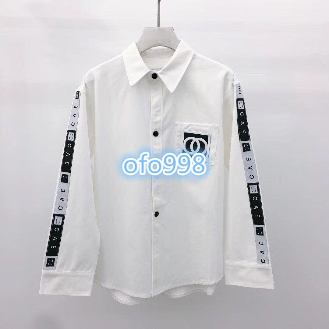 12fd66fe66ef De gama alta de las mujeres niñas tops Camisa Carta Impresa solapa Floja  Ocasional de manga larga tops Blusa de las mujeres Moda tops blanco SML