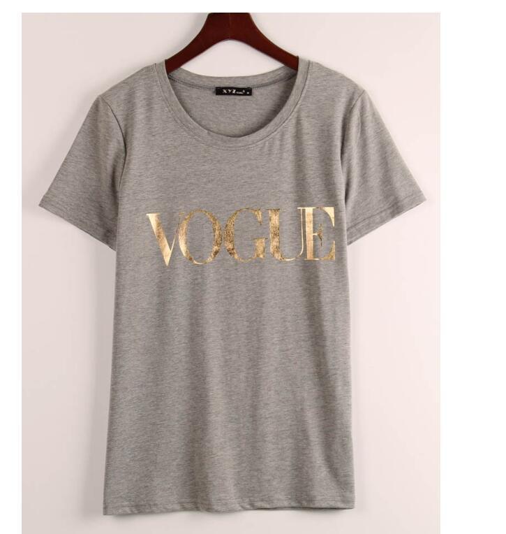 D'oro Acquista Modo Maglietta Di Vogue Donne All'ingrosso Le Aj543RL
