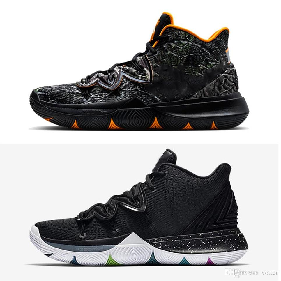 273dbe95cd0 2019 Limited 5 5s V Basketball Shoes For Men Black Magic Kyrie Chaussures  Sports Sneakers Mens Trainers High Ankle Zapatillas Size 40 46 Girls  Basketball ...