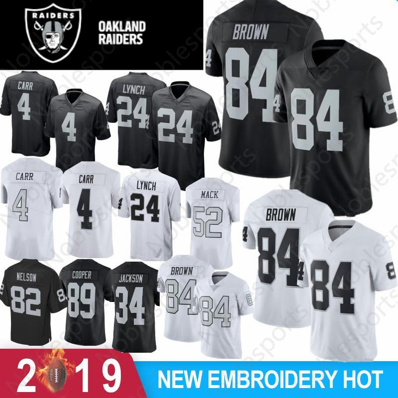 official photos 75296 b3110 Oakland 4 Derek Carr Raiders 84 Antonio Brown Men Youth Women 2019 Latest  Jerseys 24 Marshawn Lynch 34 Bo Jackson Embroidery