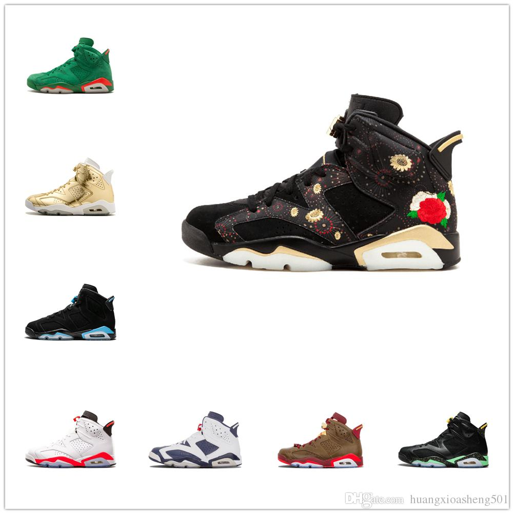 d5778fd55664da 2019 With Box High Quality 6 6s Black Infrared 3M Reflect Carmine UNC Basketball  Shoes Men Toro Hare Oreo Maroon Tinker Low Chrome Sneakers From ...