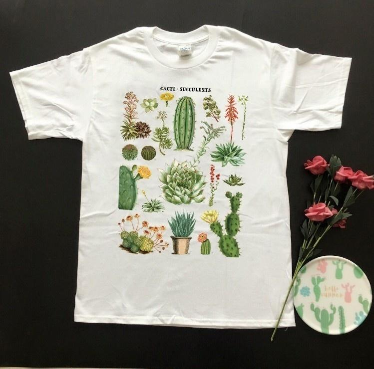 778f7d067 Hahayule Hjn Cacti Succulents Printed Desert Tshirt White Tees Department  Plants T Shirt Unisex Vintage 90s Tv Shows Graphic Tee Y19042101 Make T  Shirts ...