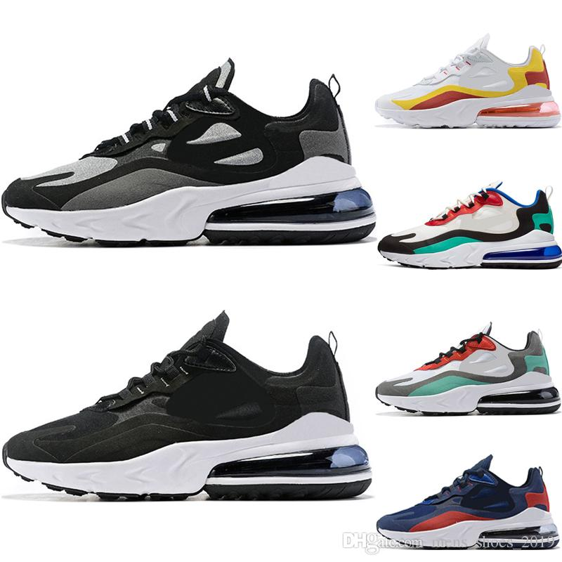 nike air max 270 react Venta caliente reaccionan los hombres corriendo zapatos de calidad superior triple negro blanco gris moda para hombre