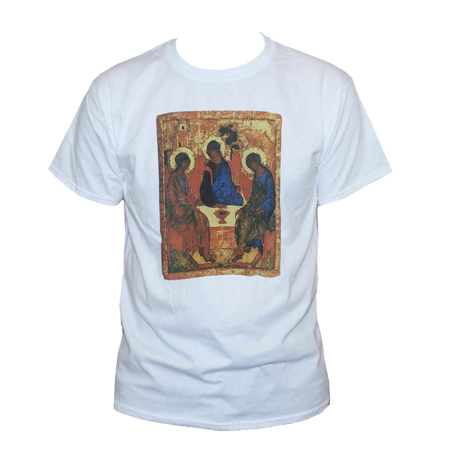 b019164d9 Andrei Rublev Trinity T Shirt Russian Christian Art Jesus Christ Graphic  Tee Tees Custom Jersey T Shirt Graphic T Shirt Design Own T Shirt From  Tongcup, ...