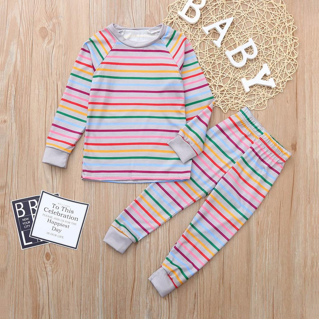 079d58d5e 2019 Baby Boys Girls Clothes Set High Quality Long Sleeves Stripe ...