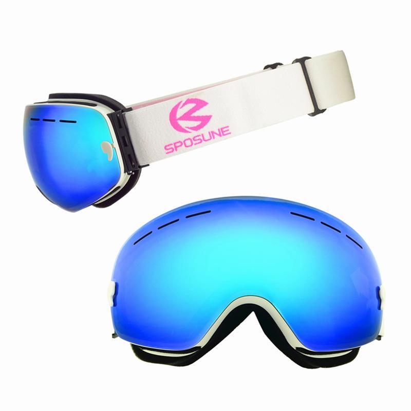 f7da21448d2 Compre Gafas De Esquí De Invierno Lentes De Doble Capa Moto De Nieve Gafas Para  Hombres Mujeres Snowboard Deporte Máscara Gafas Gafas Esféricas Equipos A  ...