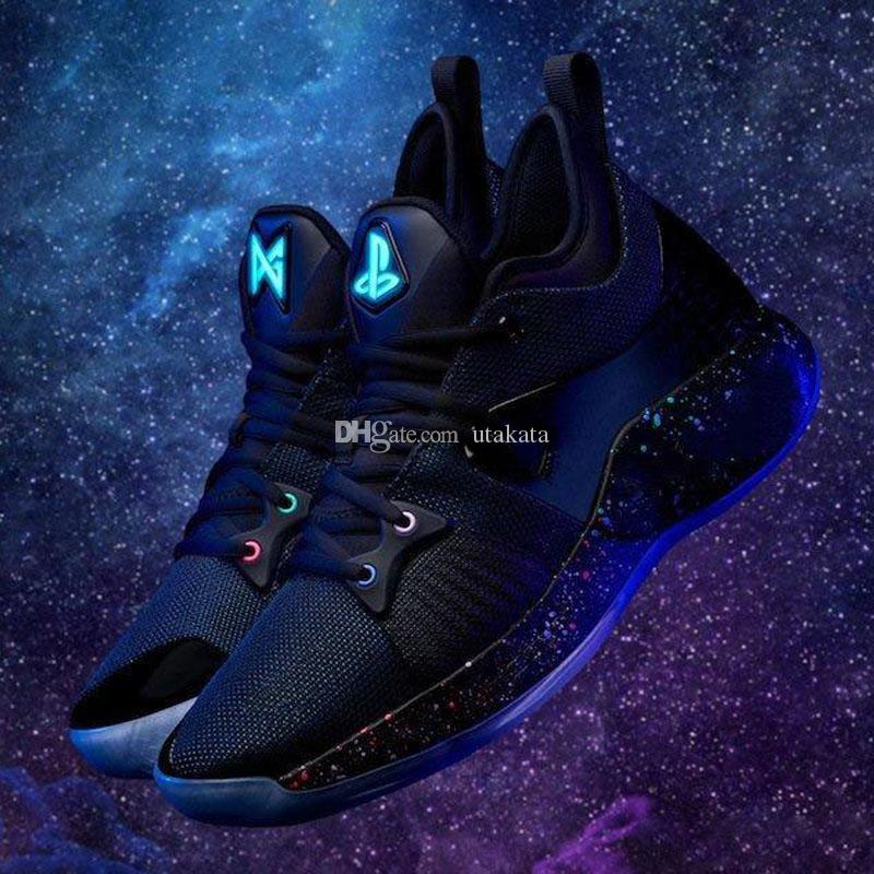 9ccdb4528c0d 2019 New Lights UP PG 2 PlayStation Taurus Road Master Basketball Shoes For  Paul George II PG2 2s PS Athletic Sport Sneakers Size 40 46 Shoes Brands ...