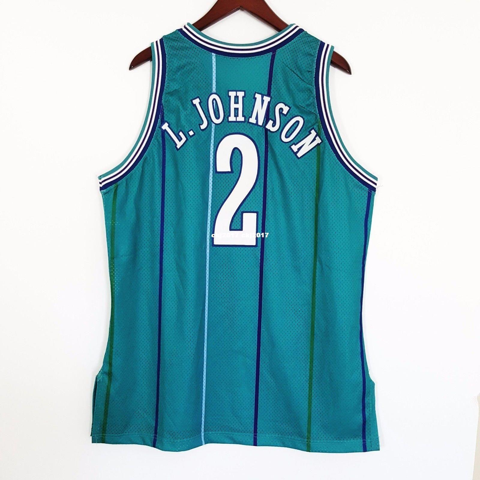 los angeles d0c05 8e509 100% Stitched Larry Johnson HorSewn Champion Jersey ens Mens Vest Size  XS-6XL Stitched basketball Jerseys Ncaa