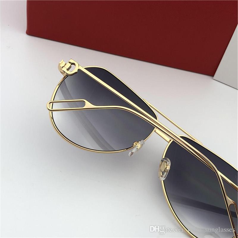 7566ba4b2d6 Cartier 0110 hombres Gafas de sol raras vintage 2019 GREEK Gafas de sol  vintage cristal oro raro biggie Nuevo con estuche