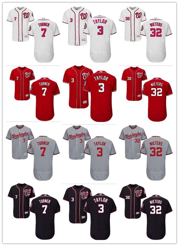 quality design f8e5a 38fd4 custom Washington Men's women youth Nationals Jersey #3 Michael Taylor 7  Trea Turner 32 Matt Wieters Home Baseball Jerseys