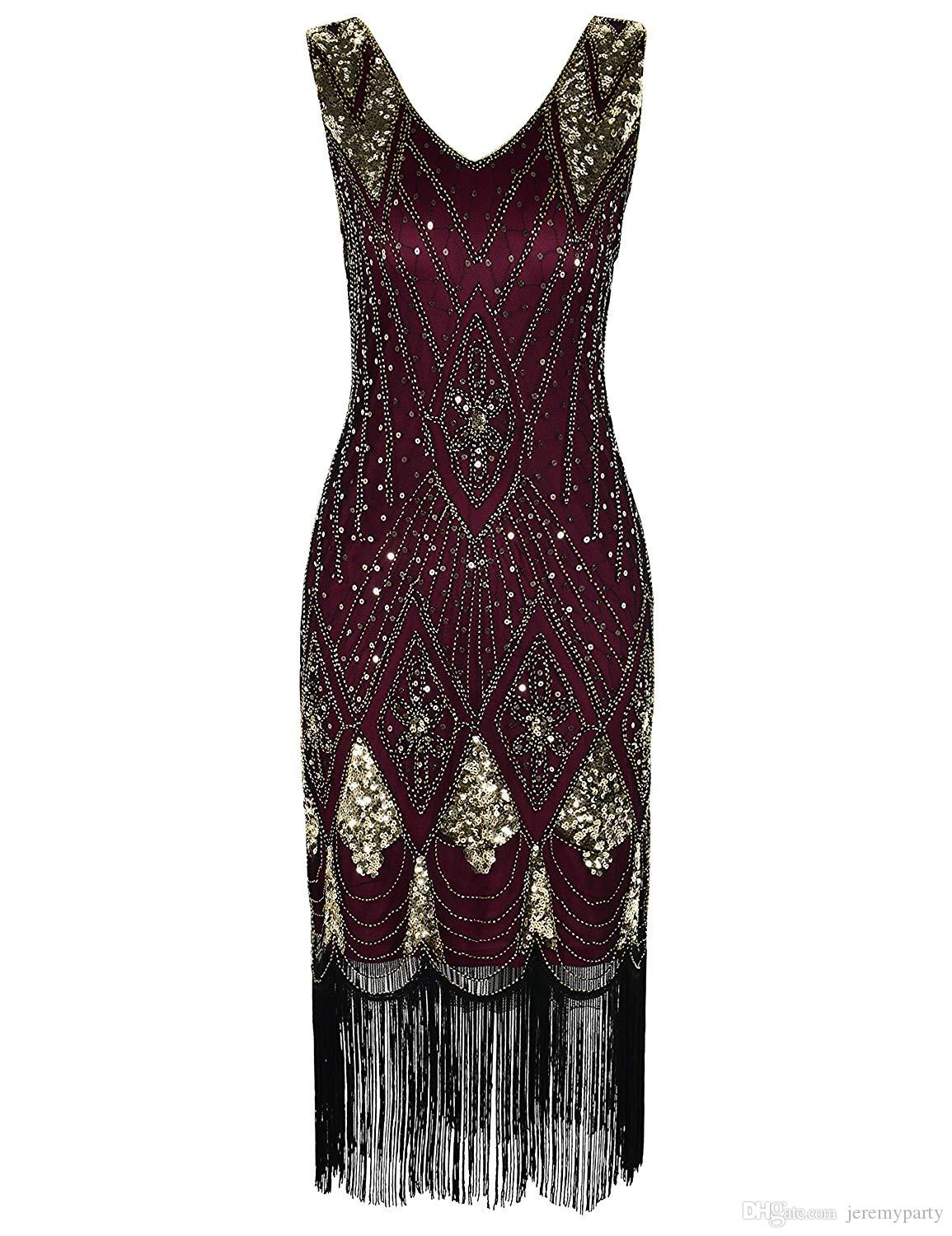 481fc714 2019 QUALITY Women 1920s Great Gatsby Cocktail Sequin Art Deco Flapper  Evening Dress Beads Fringed Party Costume From Jeremyparty, $29.94 |  DHgate.Com