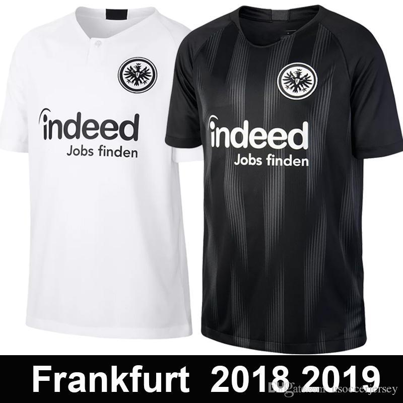 43975ba351 Compre Top Qualidade 2018 2019 Eintracht Frankfurt Casa Fora Camisa De  Futebol 18 19 Frankfurt Liga Europa HALLER JOVIC REBIC Camisas De Futebol  De ...