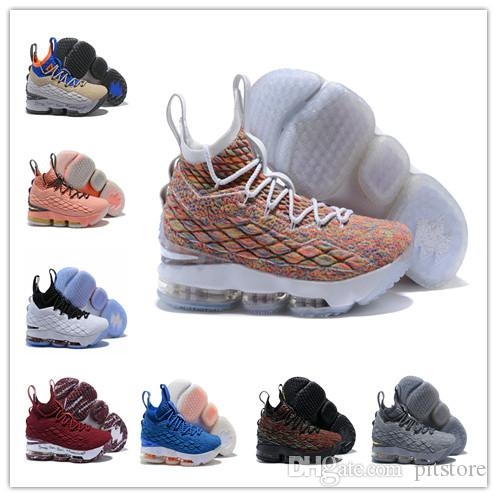 86b9ad081e1 Cheap LeBron 15 Fruity Pebbles Basketball Shoes LeBron Shoes Griffey  Outdoor Shoes James 15 Lbj 15 Men Us7-us12