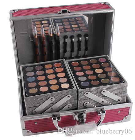 MISS ROSES Professional Makeup Set Aluminum Box With Eyeshadow Blush Contour Powder Palette For Makeup Artist Gift Kit Makeup Organizer Airbrush Makeup From ...