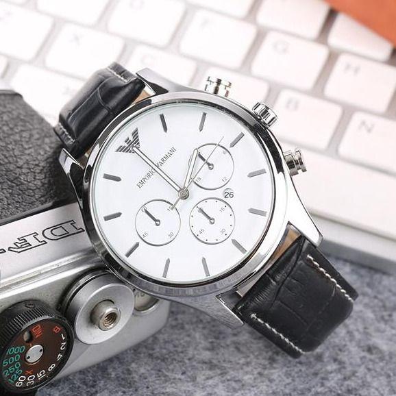 180044463f3a Compre Diseñador Clásico Reloj Ar Marca De Lujo Relojes De Cuero Para  Hombre Reloj Deportivo Reloj Deportivo Aaa Alta Calidad Reloj Masculino  Montre Homme A ...