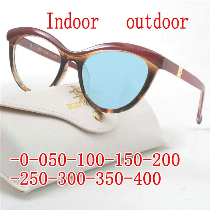 b536e432a8 Compre 2019 Miopía Gafas De Sol Fotocromático Acabado Mujeres Miopía Gafas  Gafas Con Lentes De Color Gafas De Sol Gafas FML A $44.51 Del  Marquesechriss ...
