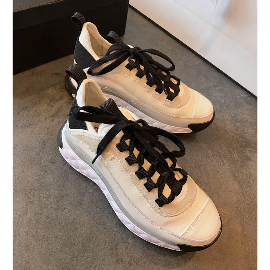 con caja de grado superior 2020 del diseñador negro blanco zapatillas de deporte del cuero genuino de los zapatos del diseñador mujeres de lujo zapatos casuales
