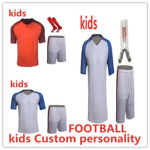 a5caa4dc3f5 2019 Kids Soccer Jerseys Sets Survetement Football Kits Child DIY Print  Custom Personalit Futbol Training Cheap Uniforms Set Soccer Training Suit  From ...