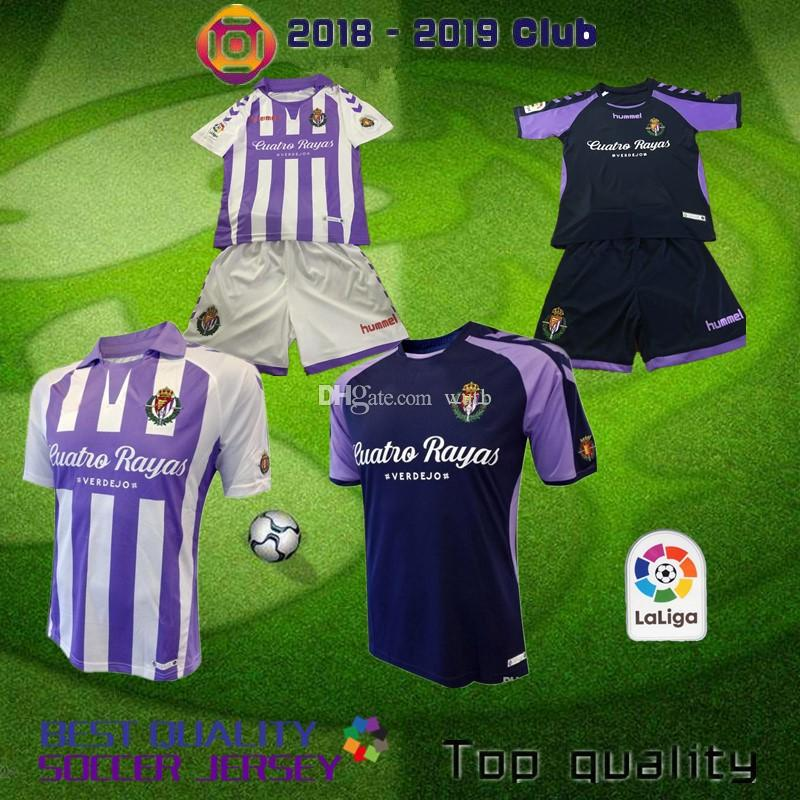 2019 18 19 Valladolid Kids Home Away Soccer Jerseys 2018 2019 Kids Kit  Valladolid Jaime Mata Michel Borja Luismi Jaime Football Shirts From Wutb 6134dccff