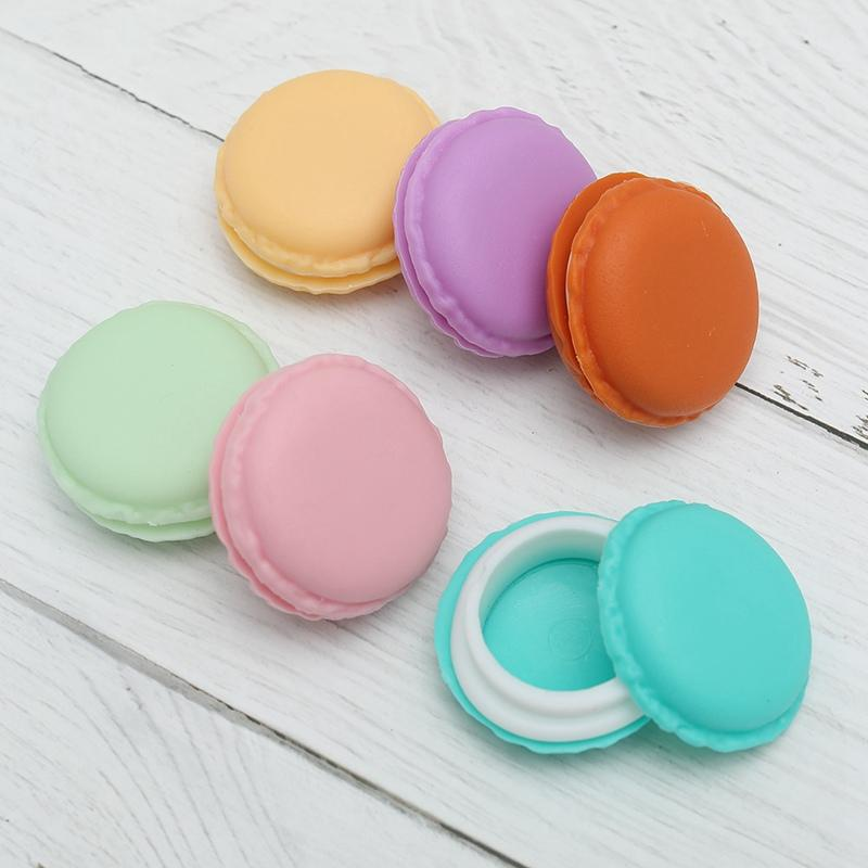 1 Pcs Portable Candy Color Mini Cute Macarons Jewelry Ring Necklace Carrying Case Organizer Storage Box 6 Colors