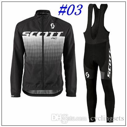 Scott Men Long Sleeve Cycling Jersey Sets Breathable Sportswear Mountain Bicycle  Bike Apparel Cycling Clothing Sets Cycling Jersey Scott Online with ... 9ef000ac3