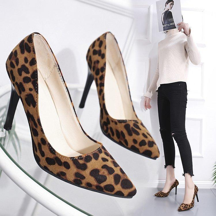 00c027d54ae Dress Shoes 2019 Spring Summer Pums Womens Leopard Print High Heels For  Ladies Plus Size 34 41 Pumps Women s Footwear Sexy Party