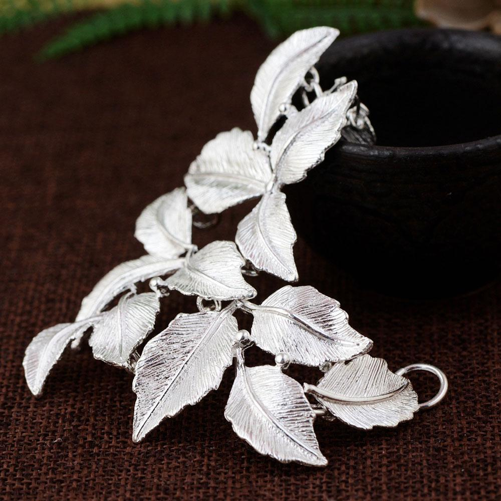 wholesale Leaves Pendant 925 Silver Hang Pure Original S925 Thai Silver Pendants Women for Jewelry Making