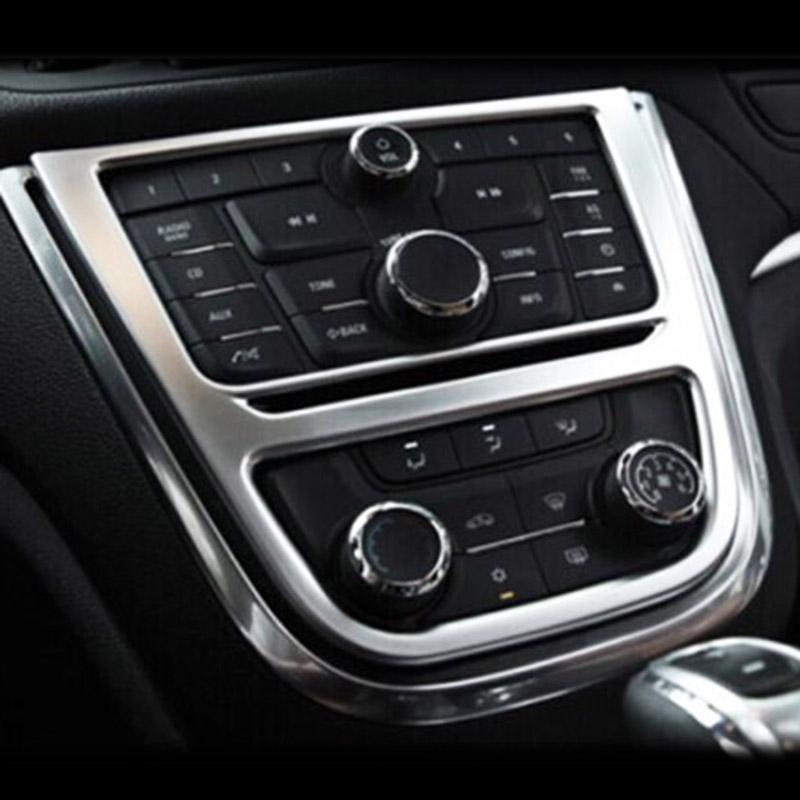 Car Styling Chrome Interno AC A / C Interruttore Pulsante Copertura pannello Cornice cornice per Buick Encore Opel Mokka 2012 2013 2014 2015 2016