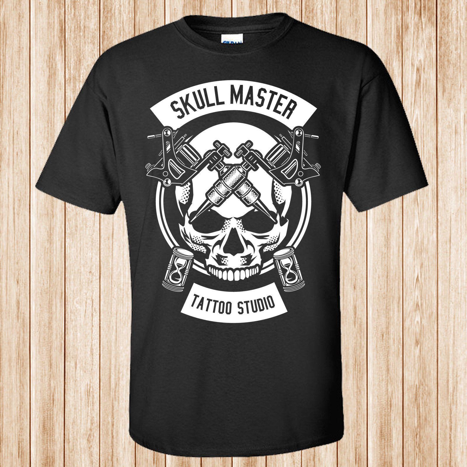 Skull Master Tattoo T Shirt Casual Male Tshirt Men Tops Tees Tees ...