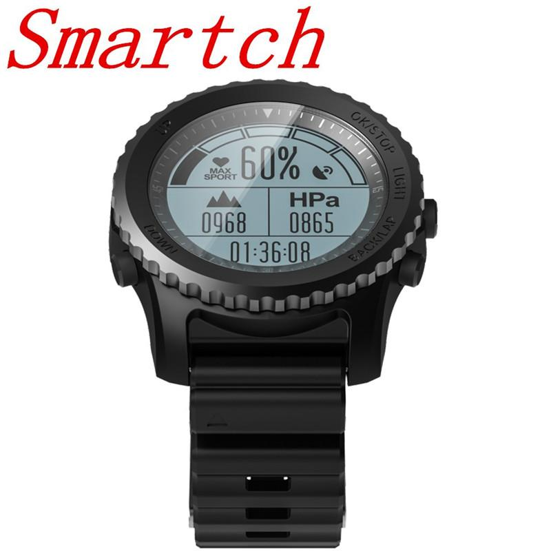 Smartch Wearable Devices Montres intelligentes S968 Smart Watch Moniteur de fréquence cardiaque Tracker Fitness Tracker IP67 GPS professionnel pression