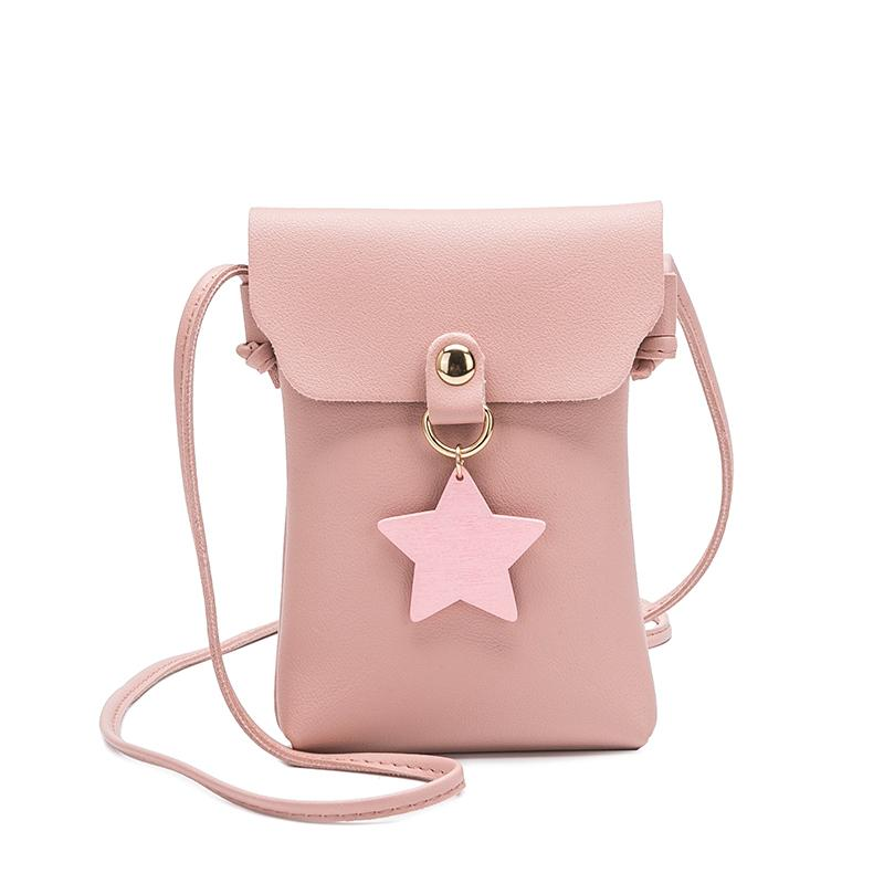 Cheap Fashionwomen Small Envelope Shoulder Bag Lady S Mini Cute Solid Color  Luck Star Handbag Vertical Section Bag Cross Body Phone Bag Messenger Bags  ... 2cb008ef1c804