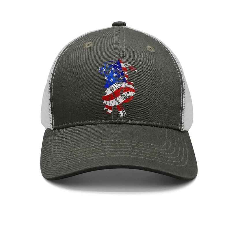 d0bc808bb Sons of Anarchy American flag army-green mens and womens trucker cap  baseball cool custom cute hats