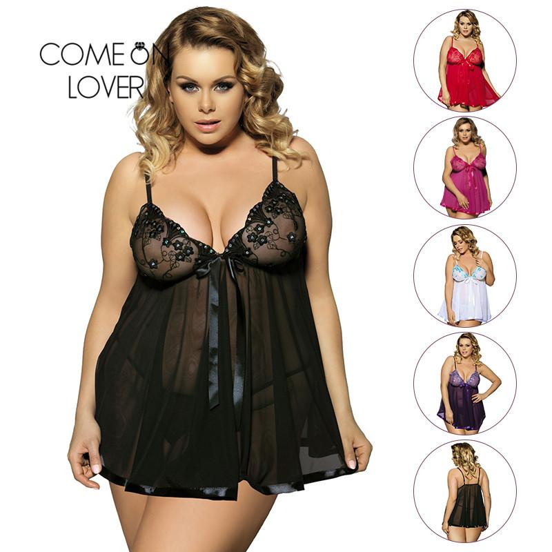 4bd65b788 Pijamas De Maternidade Comeonlover Roupas Sexy Erotic Underwear Mulheres  Baby Doll Lingerie Sexy Hot Transparente Plus Size 6XL Lace Lingerie  Sleepwear ...