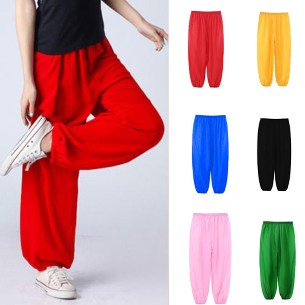 8fe831ec90add Free Shipping Fashion Children Girls Boys Kids Baggy Dance Costume Bloomers  Trousers Harem Pants Comfortable 2018 Autumn