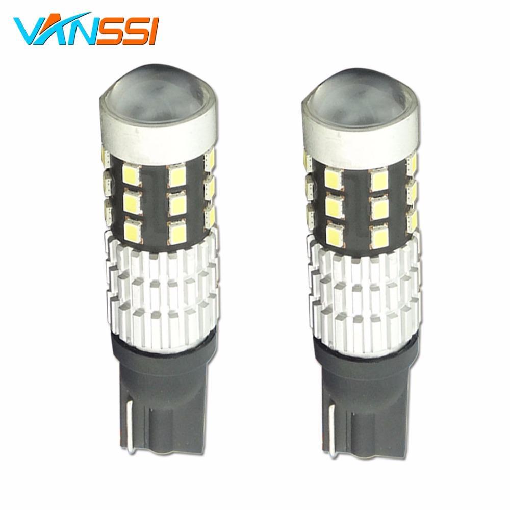 VANSSI Super Bright 6000K White T10 194 168 W5W T15 T16 921 912 LED Light  Bulbs 1200 Lumens 1020 Chips 25 LEDs Replacement Bulb