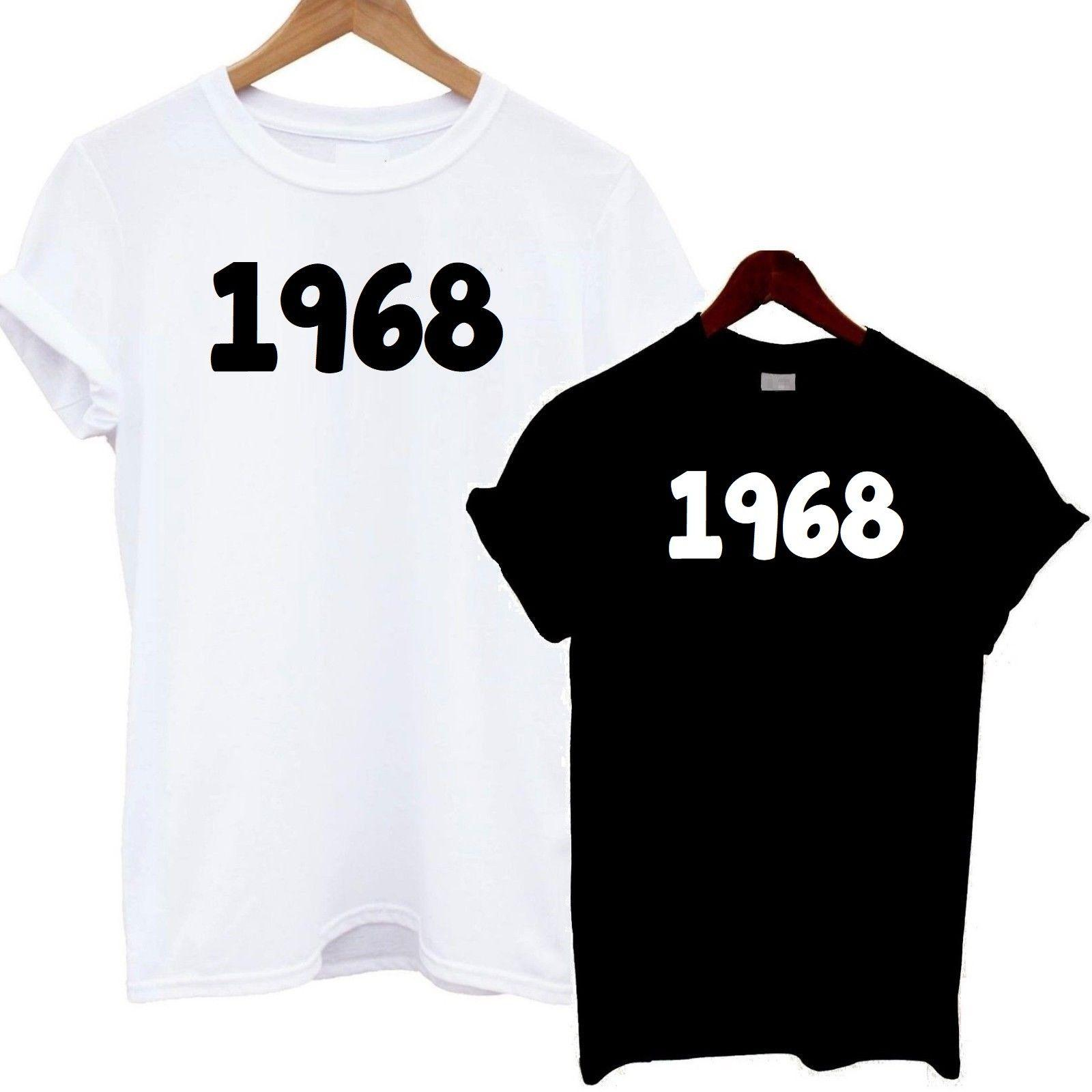 1968 T Shirt 50th Birthday Tee Funny Year September October November DecemberFunny Unisex Casual Tshirt Cool Shirts Online All From Fightershop