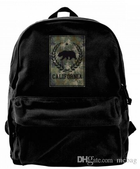 a08af2d23e California Republic Camo Army Military Bear Fashion Canvas Designer Backpack  For Men   Women Teens College Travel Daypack Leisure Bag Black Boys  Backpacks ...